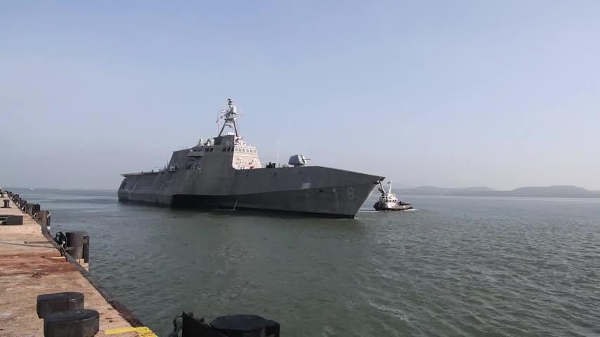 Maritime Training Activity (MTA) Malaysia 2019 - USS Montgomery Departs