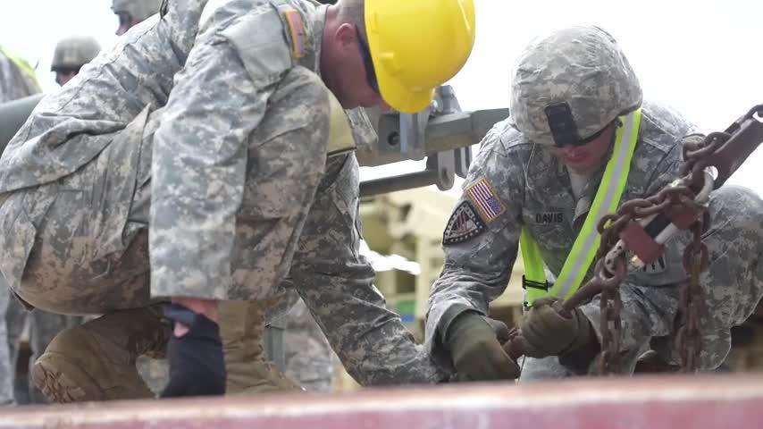B-ROLL: Task Force Hoosier welcomes returning 76th Infantry Brigade Combat Team
