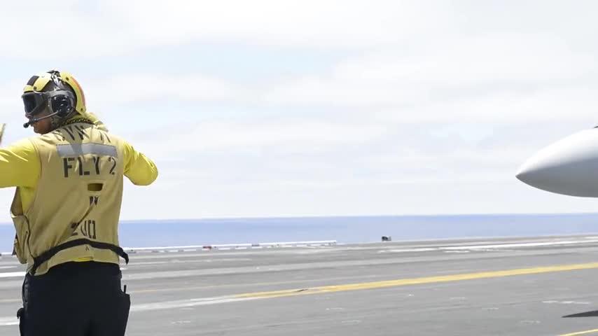 USS Theodore Roosevelt conducts flight operations